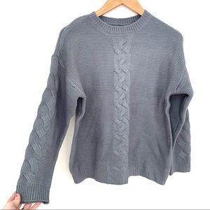 No Brand Cozy Knit Gray Blue Sweater